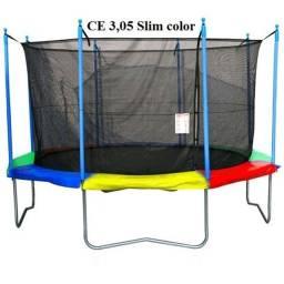 Cama elástica pula pula 3,05 rede de proteção mais alta é mais segurança!