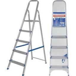 Escada de Alumínio 5 Degraus Mor