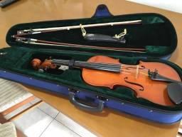 Violino 4/4 Euro Classic 2001 com cordas Thomastik Dominant, dois arcos e estojo rígido