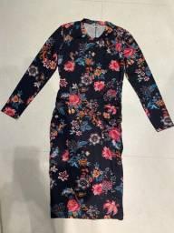 Vestido Longo Quintess Floral - Tamanho M