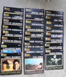 25 discos MPB com, fascículos da História da Música Popular Brasileira em bom estado