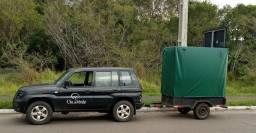 Carretinha grande para transporte de móveis, árvores ou outros itens