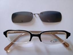 Armação, Óculos +Clip polarizado