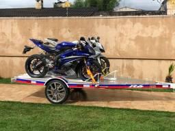 Carretinha reboque para transportar moto