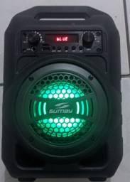 Caixa de som SUMAY Bluetooth Cinza<br>50 só até hoje! *