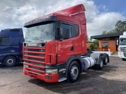 Título do anúncio: Scania R 114 380 6X2 2008 Trucado Revisado Vermelho