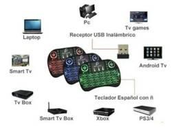 Título do anúncio: Mini Teclado Iluminado Controle Sem Fio P Smart Tv Pc