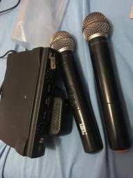 Microfones sem fios JWL U-585 dinâmico unidirecional preto