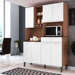 Kit Cozinha 100% MDF Verdot 7 PT 1 GV