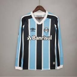 Camisa Grêmio Manga Longa Tricolor. TAM: GG