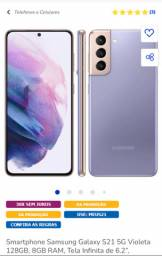 Samsung Galaxy S21 128gb violeta lacrado com nf