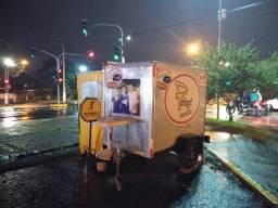 Carretinha bau aluminio, hotdog, campismo, food truck,trailer,reboque
