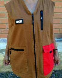 Colete High Company Color Block Vest Brown/Red