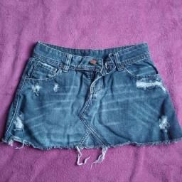 Mini saia jeans Feranda