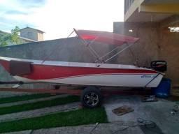 Vendo Barco corisco 5,00 mts com motor 25 Hp Mercury