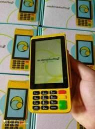 Maquininha de cartão sem mensalidade/emite comprovante, produto lacrado