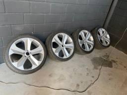Rodas aro 22 5x114 pneus novos