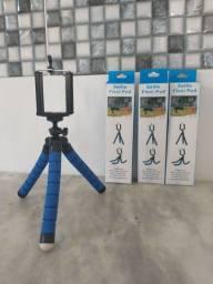Mini Tripé ajustável para celular e câmera.