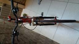 Bicicleta Caloi MTB de aluminium novinha aceito trocas