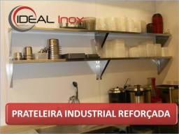 Prateleiras de parede em Aço Inox para cozinha industrial - Nova em promoção