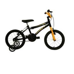 Bicicleta Top Aro 16 Masculina Atx Preta E Amarela Athor Bike