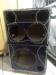Madeiramento caixa de som residencial