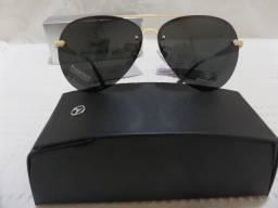 369435fb0ac4c Óculos de Sol Mercedes Benz MB743 Dourado Preto Polarizado - Importado e  Novo