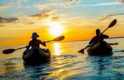Aluguel de caiaque ou pranchas de SUP (stand up paddle)