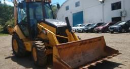 Retro escavadeira caterpillar 416 E