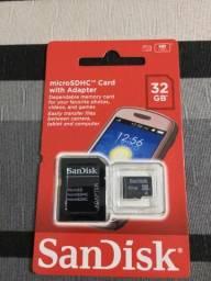 Cartão de memória de 32gb