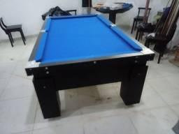 Mesa Gaveta de 4 Pés Cor Preta Tecido Azul Mod. IJML0706