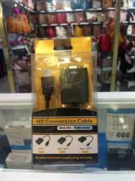 Conversor HDMI-VGA + Áudio