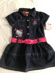 Vestido infantil importado original Hello Kitty novo - 10% desconto