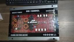 Modulo Automotivo B.buster Bb-1600gln 1.600 Watts 4 Canais