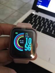 Relógio Smartwatch Y68 Rosa