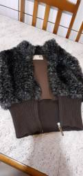 Colete e casaco de lã