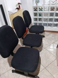 Cadeira tripla