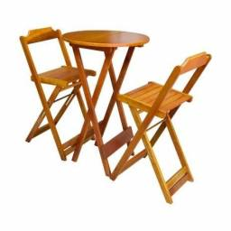 Mesas e Cadeiras Bistrô Madeira