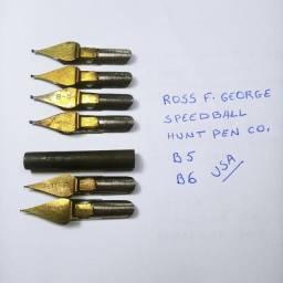 Título do anúncio: Penas de aço antigas para caligrafia
