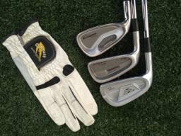 Taco de golfe Titleist, Cobra e Mizuno Canhotos.