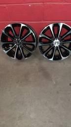 """Jogo de Roda New Civic lxs aro 16"""" usada preto Diamantado"""