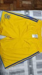 Título do anúncio: Calção Seleção Ucrânia Original Adidas