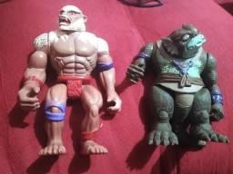 Desapegando Simiano e escamoso Thundercats anos 80 , lote 2 bonecos entrego em maos