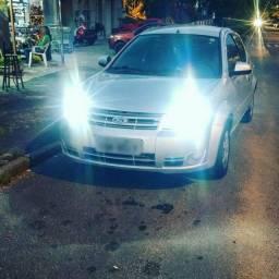 1 Par Lampada Led Automotiva h7 efeito Xenon + brinde