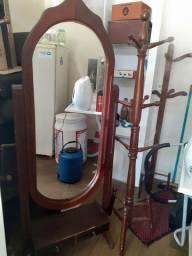 Espelho madeira retrô