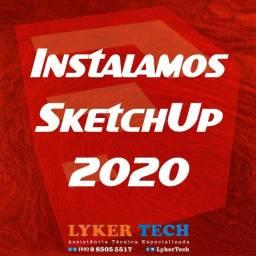 Título do anúncio: Instalação SketchUp completo