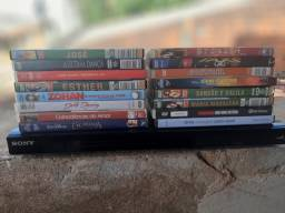 Aparelho de DVD Sony + 16 DVDs originais