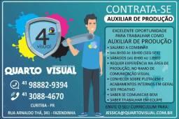 Auxiliar de Produção com experiência em Comunicação Visual
