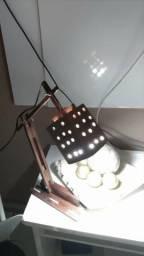 Luminária rústica com lampada de led