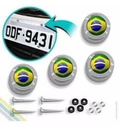 Kit Com 4 Capas P/ Parafuso De Placa